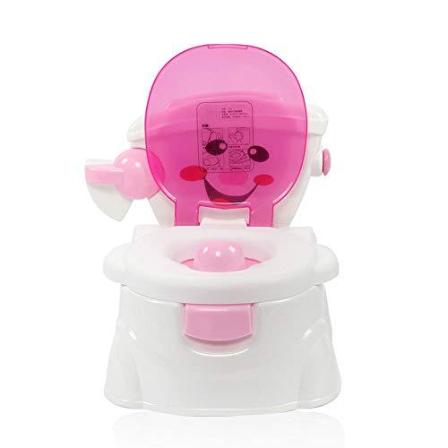 ZOUQILAI Kinder-WC Tragbare Kinder-WC-Trainingssitz Kleinkind Baby Töpfchen Toilettensitz mit Spritzschutz Abnehmbare Teile (Farbe : Pink) (Töpfchen Stuhl Griffe)