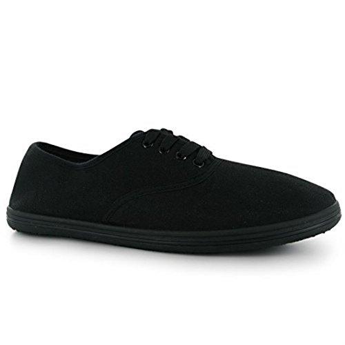 Slazenger décontracté pour homme léger en toile à lacets en chaussures Noir - noir