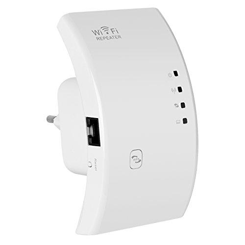 INOD N300 Mini Wi-Fi Reichweite Extender / Wireless Signal Booster Integrierte Antennen-weiß integriert