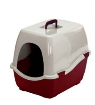 Marchioro Bill 2S Covered Cat Litter Tray (Red-Beige)