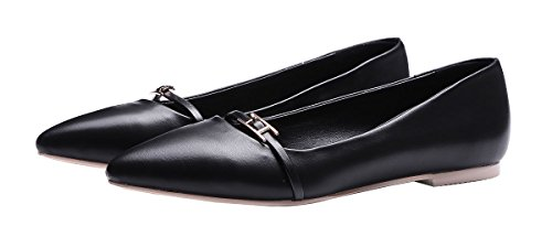 NIUERTE Collo Basso donna Black Leather