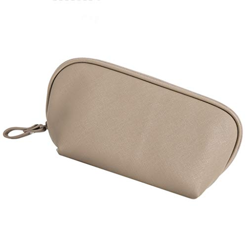Trousses à maquillage Sac De Rangement pour Sac De Maquillage Petit Sac De Lavage Portable Mignon Mini Simple Main Shell Fournitures De Voyage Brown (Color : Brown, Size : 23 * 8.5 * 11.5cm)