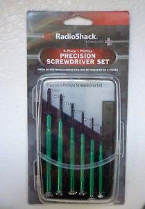 radio-shack-precision-6-peice-screwdriver-set-64-068-green