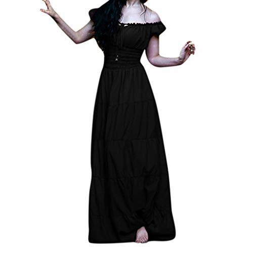 Kostüm Regeln Eiskunstlauf - MAYOGO Damen Renaissance Kleid Damen Lang