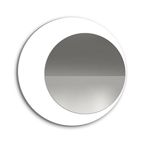 SLAAP - Espejo Pared Redondo Color Blanco Lacado