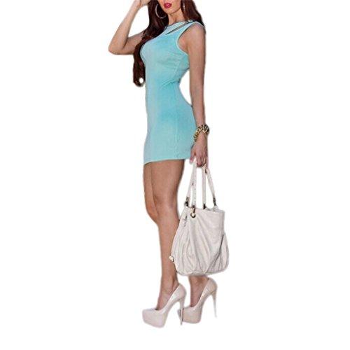Waooh - Kurzes Kleid Mit Gefütterter Kragen Wyll Blau ...