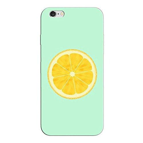 Custodia iPhone 6 6S Cover Case Sleeve Silicone TPU Bumper transparente 4.7 Limone