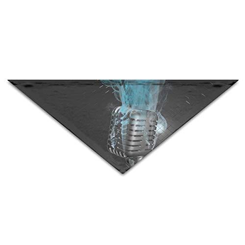 nxnx Hundebandana-Schal-Dreieck-Schellfisch-Mikrofon-rauchendes Kopftuch, Katzen-Geburtstags-Zusätze