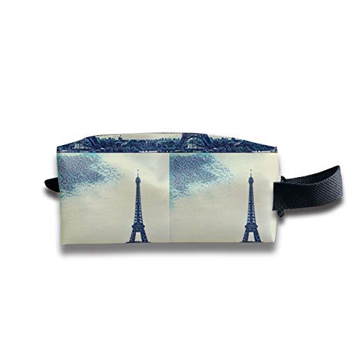 Paris - Eiffelturm_302 Tragbare Reise Make-up Kosmetiktaschen Organizer Multifunktions-Tasche Taschen für Unisex (Tröster Eiffelturm)