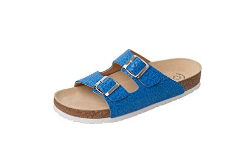 Weeger Unisex-Erwachsene 41110 Pantoletten blau leo