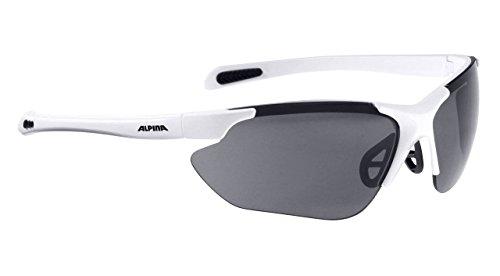 ALPINA Sonnenbrille Amition JALIX Outdoorsport-brille, White Matt-Black, One Size