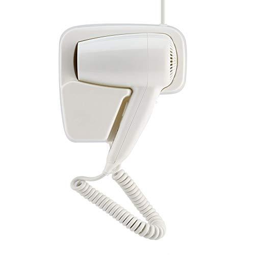 Beste Turmalin Haartrockner (FENGMM 1600W Wand-Haartrockner, Hotel-Badezimmer-Haartrockner, Thermostat Mit 2 Geschwindigkeitsreglern, Geräuschlos, Weiß)
