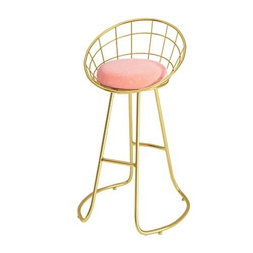 Einfache Bar Stuhl Flanell Counter Hocker, dicken Schwamm Kissen, Fett Schmiedeeisen Rahmen/Hochtemperatur Rostschutzfarbe, Dekoration (Sitzhöhe: 45/60 / 75cm) -