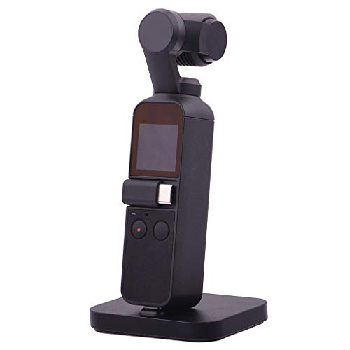 Prevently Schnellladestation Für DJI Osmo Pocket Ladestation, Desktop Charger Station Ladestation Cradle Station für DJI Osmo Pocket (Black)