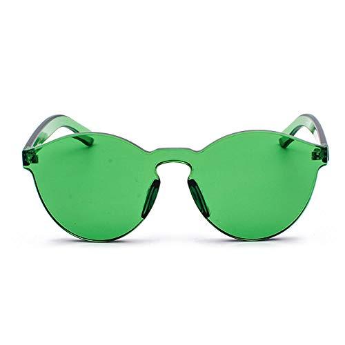 GY-HHHH Klassisches Retro-Outdoor-EssentialRandlose transparente Damen-Sonnenbrille im Harajuku-Stil in Sonnenbrillen-Grün