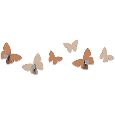 CalleaDesign - Appendiabiti Milioni di farfalle, Colore: Abbronzato