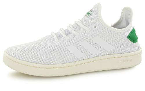 adidas Herren Court Adapt Tennisschuhe, Weiß Ftwbla/Brown 000, 45 1/3 EU -