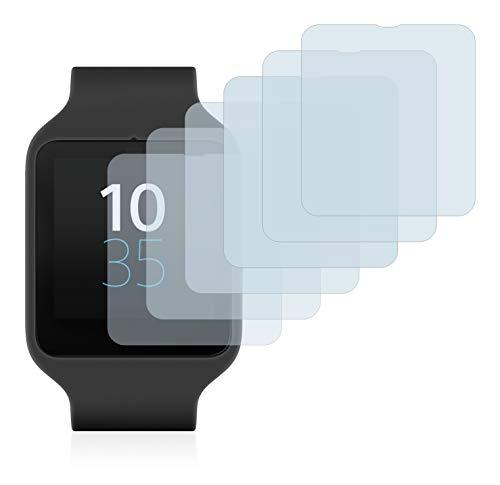 Savvies Pellicola Protettiva Compatibile con Sony Smartwatch 3 SWR50 Protezione Schermo [6 Pezzi]