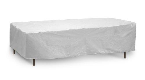 Coques de Protection résistant aux intempéries Housse de Table, 182,9 x 193 cm, Ovale/rectangulaire Table, Gris