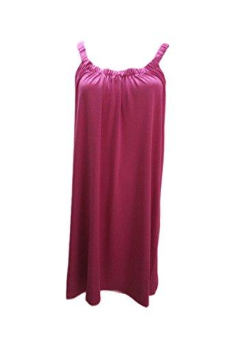 Frauen Strand vertuschen ärmelloses Stretcy Casual Kleid Rose