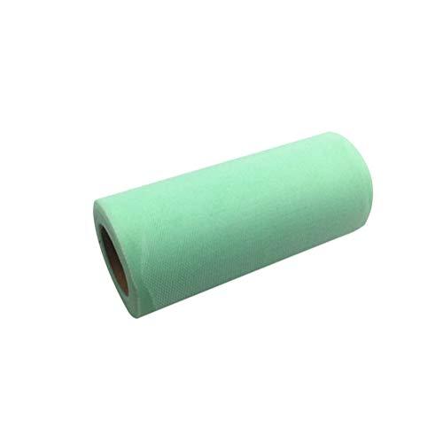 MEIDI Home Tulle Rouleau Tutu Spool Emballage Cadeau Artisanat Bridal Bow Table Runner Chaise Ceintures Décoration De Mariage (Vert) 25 Mètres