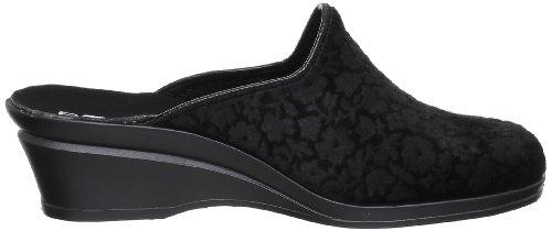Rohde - 2371, Pantofole Donna Nero (Schwarz (Noir))