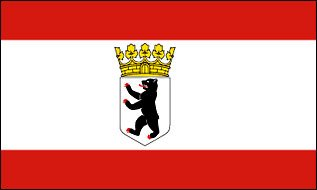 Fahne / Flagge Berlin Bär mit Krone NEU 90 x 150 cm