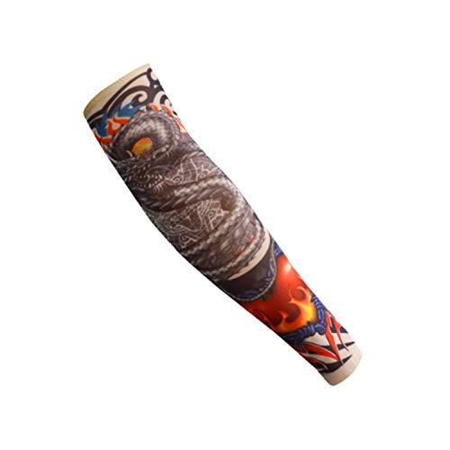 rmel,Motorradhülle Sonnenschutz, Hot Kids Fashion Tattoo Sleeve Stockings Temporary Fake Slip On Tattoo Arm Sleeves Kit Colletion Halloween Army green ()