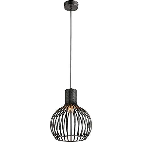 Suspension design filaire KAI noire en métal