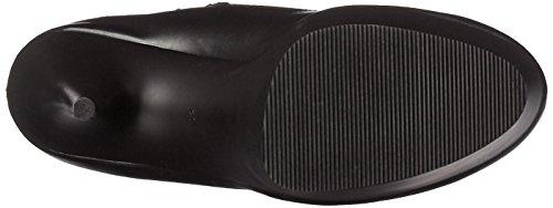 Pleaser Delight-3050, Bottes Non Doublées Arrivant au Dessus du Genou Femme Noir (Blk Str Faux Leather/Blk Matte))