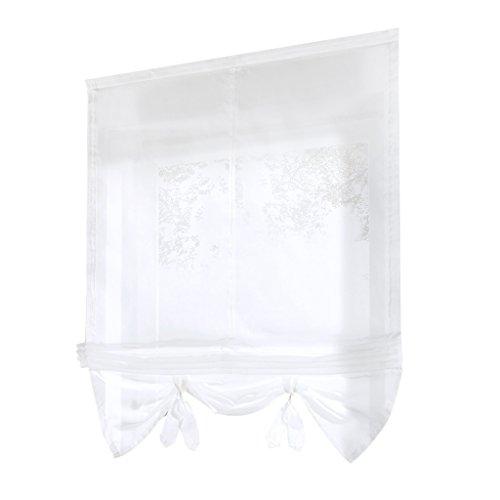 Baoblaze tendine classiche e drappeggi per finestre tenda romana in poliestere attrezzo da balcone cucina - bianco 60x155cm