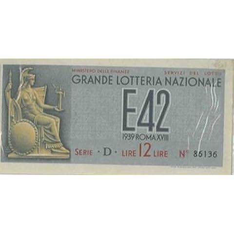 Biglietto della Grande Lotteria Nazionale.
