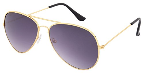 ZYX Unisex Cool Aviators( Golden Grey)