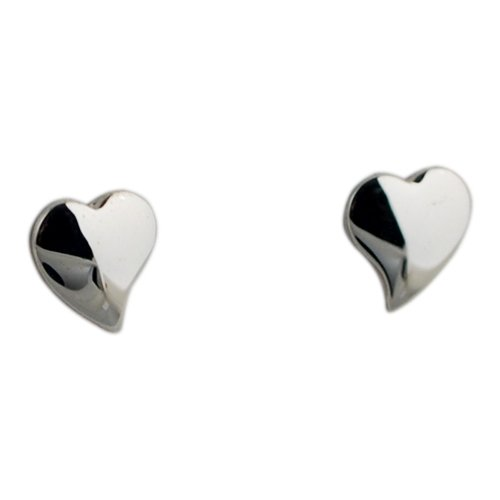 Semplici Orecchini in argento 8 x 8 mm, in forma di c & occhielli ur - Ur Amp