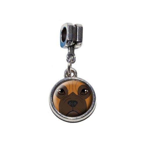 Boxer Face–Hund Pet Italienisches europäischen Euro-Stil Armband Charm Bead–für Pandora, Biagi, Troll,, Chamilla,, ()