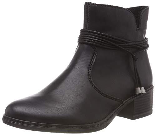 Rieker Damen 77658 Kurzschaft Stiefel, Schwarz (Schwarz 00), 40 EU