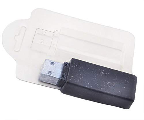 1pc Usb-Flash-Laufwerk-Technologie Computer-Fan, Gamer, Internet-Rechteck-Kunststoff-Soap-Herstellung von Schimmel-Geschenk für Sie Für Ihn Form 91x32x18mm (Soap-kunststoff-formen)