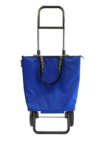 ROLSER Einkaufsroller Logic RG / Mini Bag Plus MF, MNB009, 41 x 32 x 105,5 cm, 18 - 41 Liter, 40 kg Tragkraft, blau