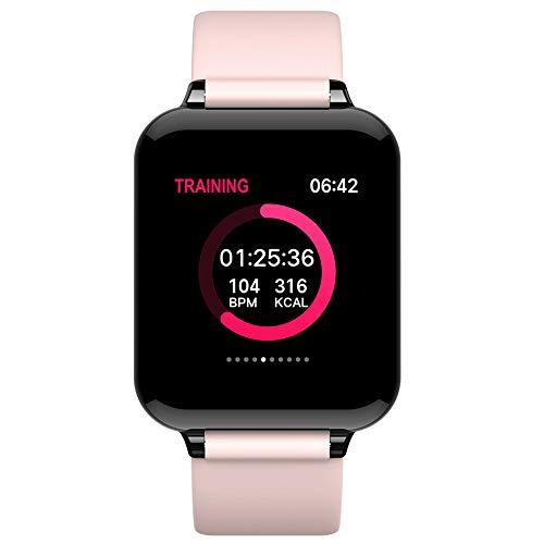P12cheng, Braccialetto Intelligente per monitoraggio attività Fisica e Salute, Schermo Touch Screen B57 con promemoria chiamate, Smart Watch e cardiofrequenzimetro Rosa