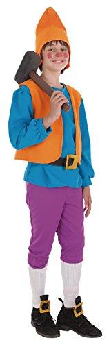 Imagen de creaciones llopis  disfraz de enanito para niños de 5 / 7 años, color azul, talla s