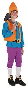 Creaciones Llopis - Disfraz de enanito para niños de 5/7 años, color azul, talla S