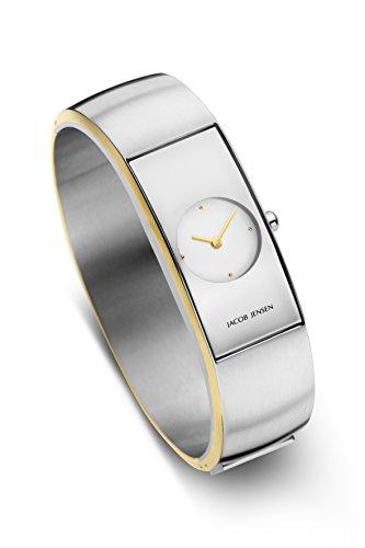 Jacob Jensen Damen Analog Quarz Uhr mit Edelstahl Armband 471