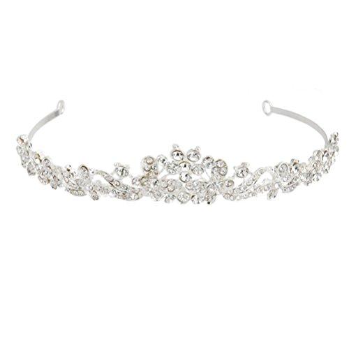 PIXNOR Tiara de diamantes de imitación diadema casco de la boda para la novia