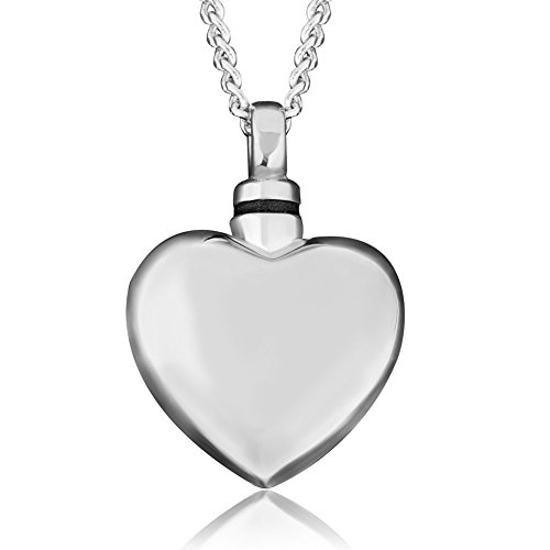 Pugster Ashes Heart Love Pendant Necklace Cremation Jewellery Urn Memorial