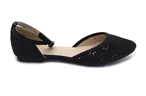 London Footwear , Ballet femme Noir - noir