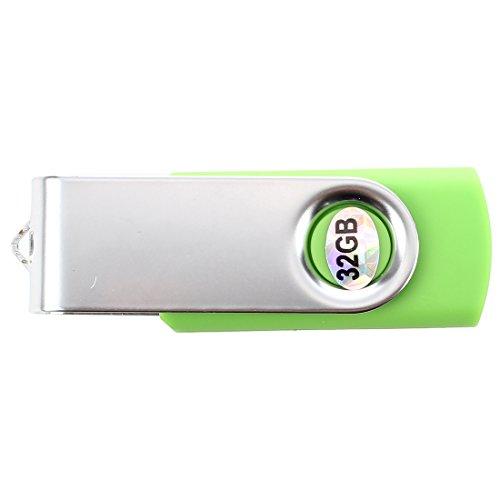 TOOGOO(R)USB 3.0 Memory Stick faltbares Flash Laufwerk Memory Stick Speicher mit drehbarem Clip 32GB – Gruen - 2