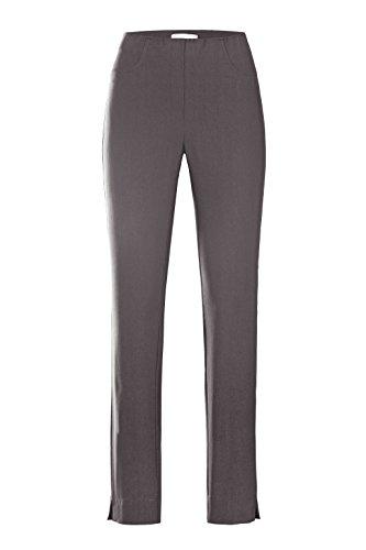 Stehmann - Stretchhose LOLI782 - mit EXTRA-Fashion Armreif - die lange, schmale Hose - WINTERWARM!! - Gerade Pull-On Hose mit Schlitz, Grau - basalt