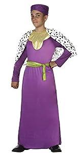 Atosa-31587 Atosa-31587-Disfraz Rey Mago niño infantil-talla 3 a 4 años violeta-Navidad, color (31587)