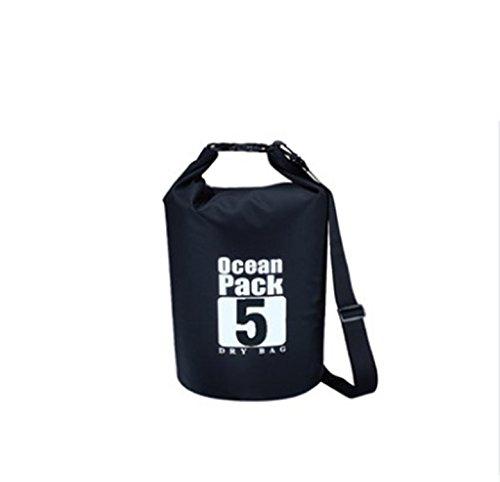Bolsa De Natación Al Aire Libre Impermeable Bolso De Viaje Playa Teléfono Móvil Snorkel Mochila Rafting Cubo Multifuncional Húmedo Y Seco Separación Bolsa De Natación,Black