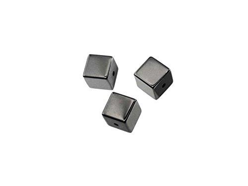 Creative-Beads Perlen Hämatit Würfel 3mm, Strang ca. 120 St. - Würfel 3